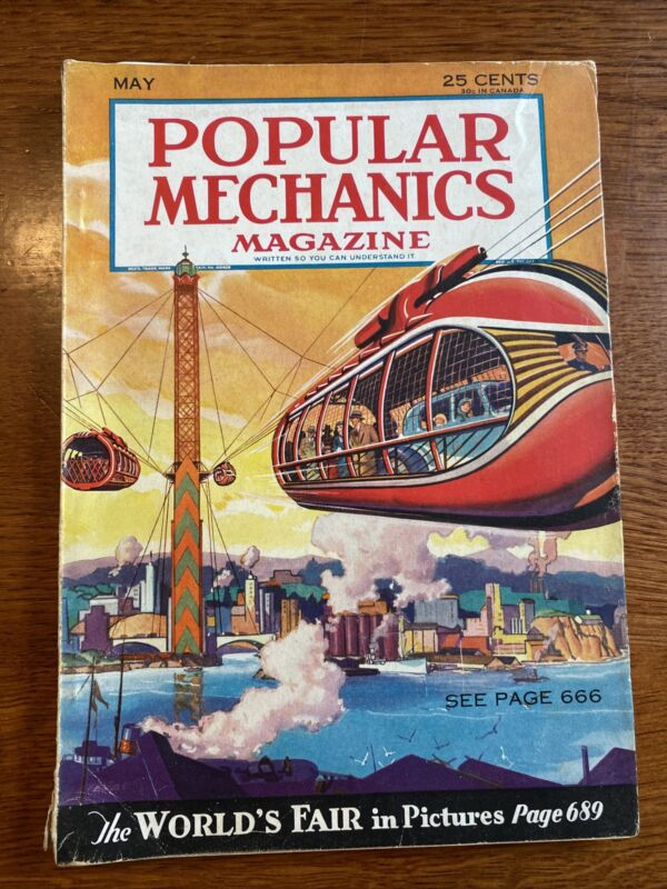 Popular Mechanics Magazine May 1933 Worlds Fair In Pictures