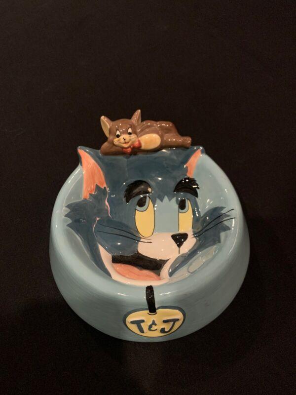 Tom & Jerry Cat Bowl 1997 Warner Bros Studio Store  Rare used