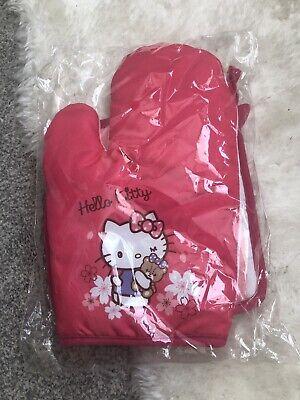 Hello Kitty Sanrio Oven Gloves Mitt Set Pink New