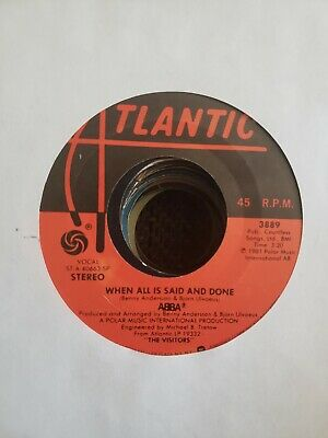 Abba - when all is said and done / should I laugh or cry - VINYL 45 record