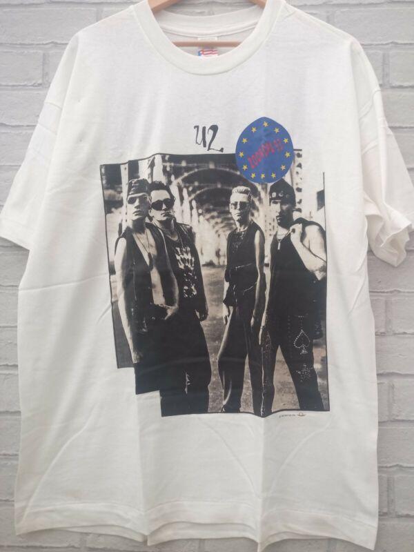 U2 ZOOROPA Vintage 1993 European Tour Shirt Bono Size XL