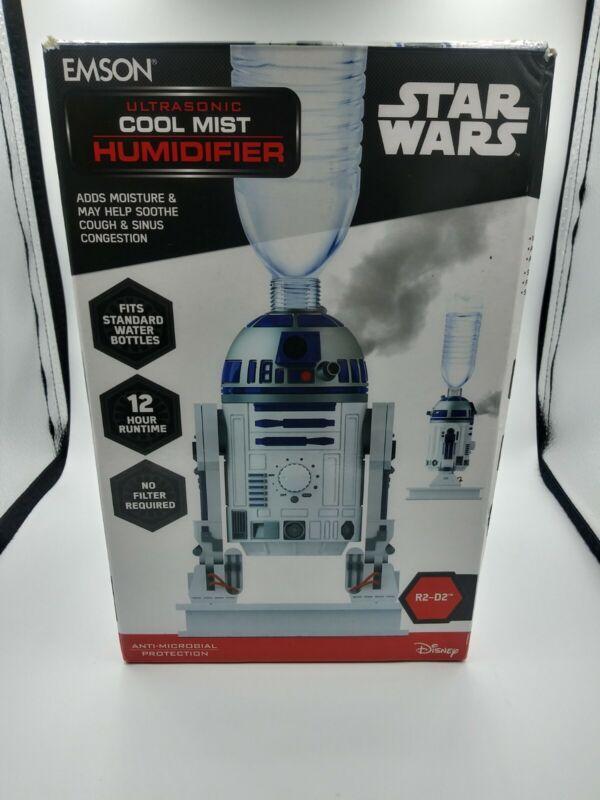 DISNEY STAR WARS R2-D2 COOL MIST HUMIDIFIER EMSON 9706D 24 HOUR RUNTIME NEW