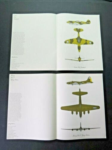 Numbered Set Box of 12 1967 Milestones of Flight WW2 Aircraft Lithographs