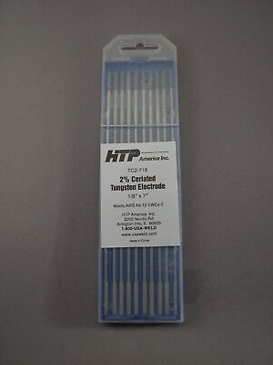 10 2 Ceriated Tungsten Tig Weld Electrodes 18 X 7