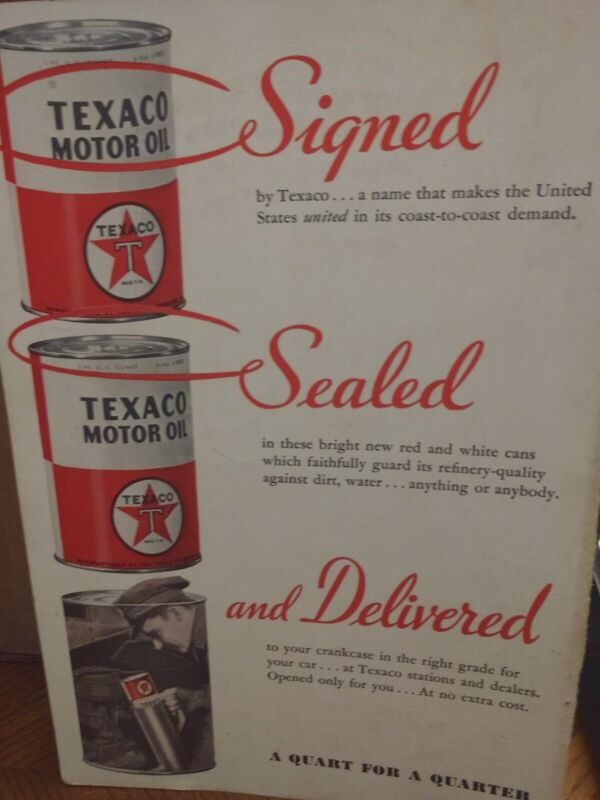 Advertising For Texaco And Pennzoil