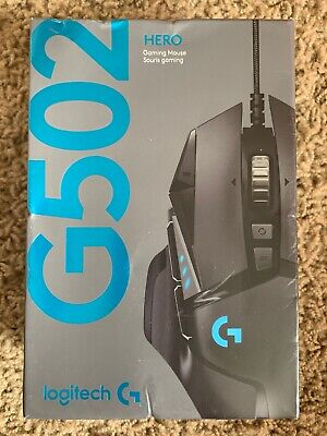 Logitech G502 HERO Wired Optical Gaming Mouse with RGB Lighting - Black NEW