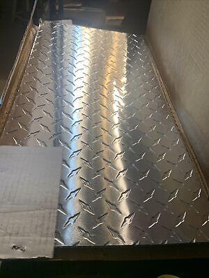 Lot Of 5 3130 Aluminum Diamond Tread Platesheet 12 X 24