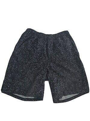 """Lululemon Men's Pace Breaker Short 9"""" Linerless Gray/Black Speckled Print Small"""