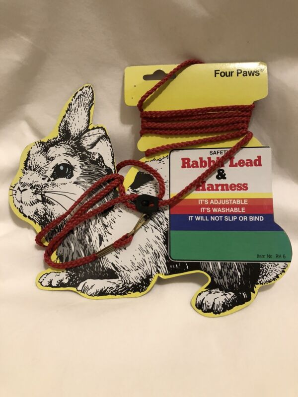 FOUR PAWS RABBIT/GUINEA PIG SAFETY LEAD & HARNESS, RED, NEW