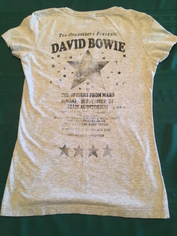 Rare 1972 David Bowie Concert T Shirt Ziggy Starsust Spider From Mars Original