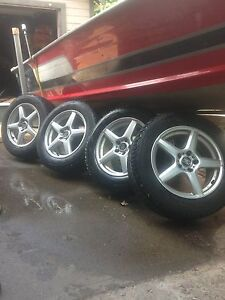 Studded Winter tires with rims 225/60R17