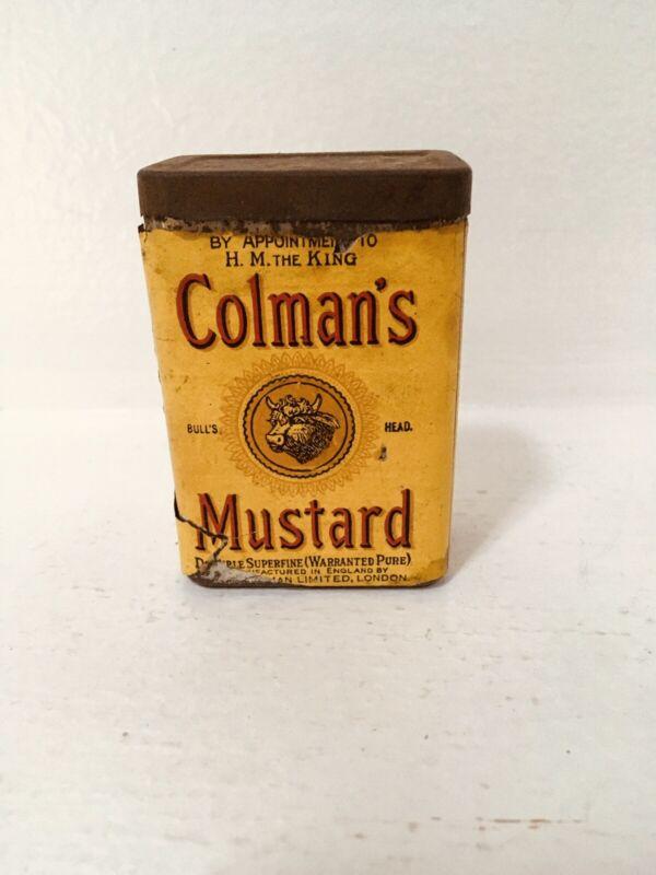 Vintage Colman's Mustard Bulls Head Tin