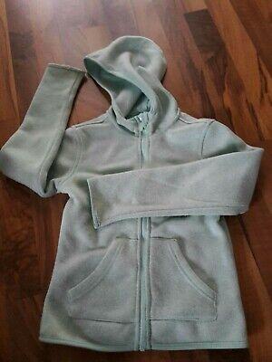 Mädchen-hellgrün (Jacke 140 Mädchen hellgrün türkis Kapuze Reißverschluss Übergang)