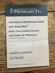 EMERSON SMARTSET TELEPHONE AUTO CLOCK RADIO 2 ALARM CKT 9100 WORKS Brand New