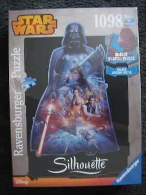 "1098 piece jigsaw ""Star Wars"" silhouette new and sealed"