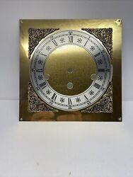 "Vintage 1977 Hermle Triple Chime Mantel Wall Clock Dial 7-7/8"" X 7-7/8"""
