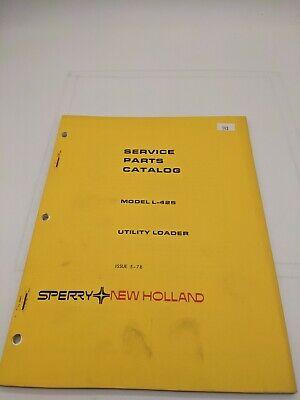 New Holland Service Parts Catalog Utility Loader Model L-425 5-78