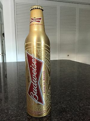 2014 BUDWEISER FIFA WORLD CUP EMPTY ALUMINUM BEER BOTTLE