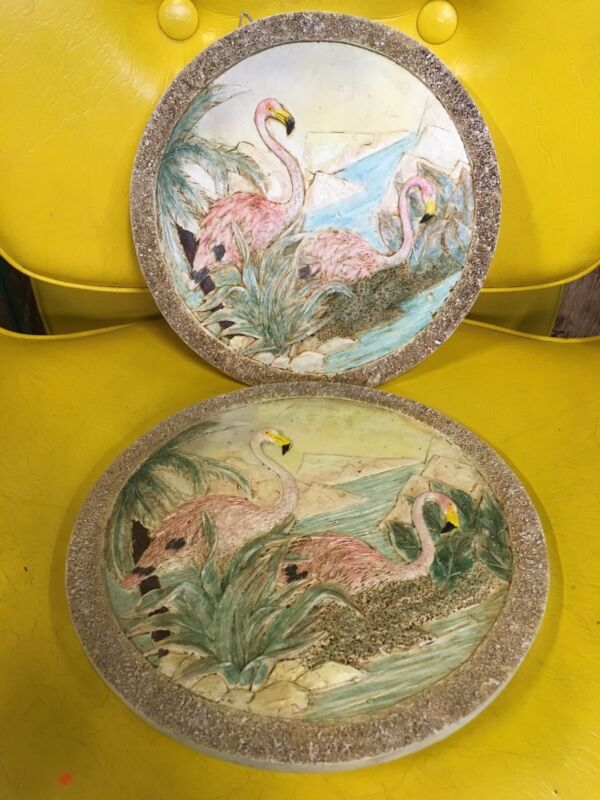 PINK FLAMINGO FLAMINGOS Flamingoes stepping stones wall ART plaque Mold Bird