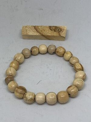 palo santo wood Bracelet hand-crafted made holy wood meditation relaxation