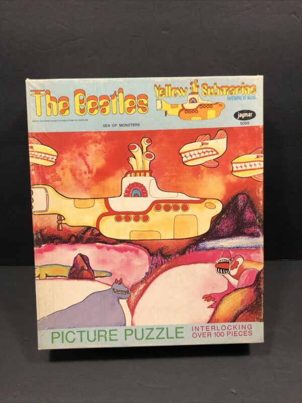 The Beatles Yellow Submarine SEA OF MONSTERS Jaymar Puzzle 5059 1968 complete
