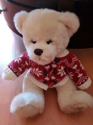 Harrods UK 2012 Chester Bear Christmas Edition Plush Bear w/Red Winter Sweater  ()