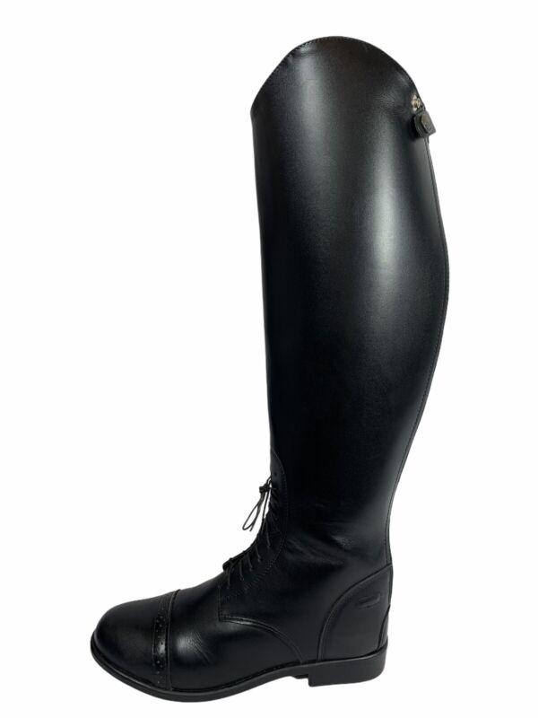 "Devon Aire ""Hampton"" Zip Back English Field Boot Black Leather Womens Sz 10 W"