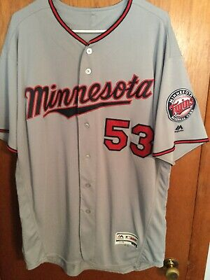 6f21ee12987 Minnesota Twins Game Used Road Jersey #53 LIGHT