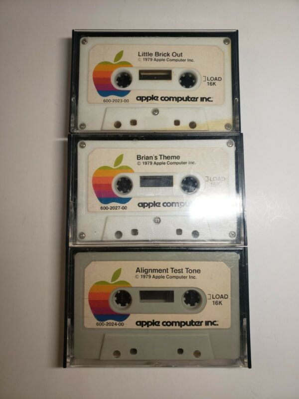 1979 APPLE COMPUTER INC CASSETTE ]Load16k lot of 3, Rare *READ*