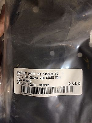 Whelen Sabkt2 Crown Victoria Speaker Mount Bracket Pn 01048343800 With Hardware