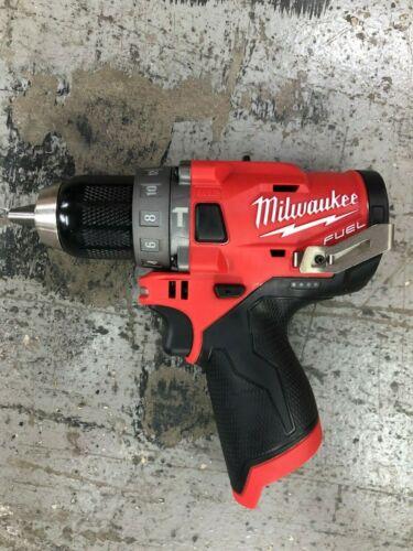 "Brand New Milwaukee 2504-20 M12 12v FUEL Brushless 1/2"" Hammer Drill Tool-Only"