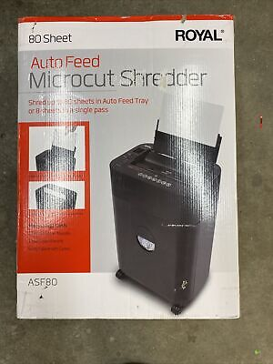 Royal Asf80 Micro-cut Shredder 8 Sheet Capacity With 80 Sheet Auto Feed