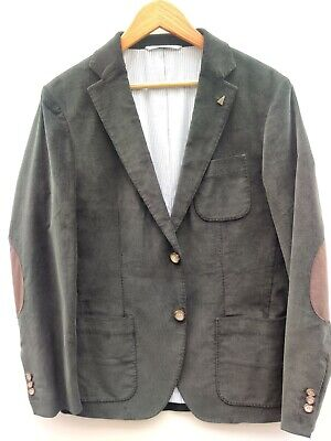 Gant by Michael Bastian Coat (38) Green Corduroy w/Elbow Patches