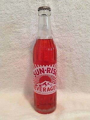 Full 10Oz Sun Rise Strawberry Acl Soda Bottle Coca Cola Bottling Company