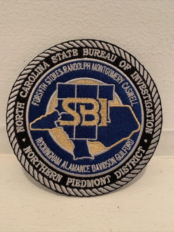 North Carolina State Bureau of Investigation Northern Piedmont Patch SBI NC