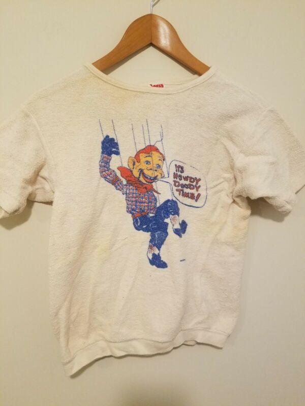 Vintage 1960s Howdy Doody T Shirt Kids Youth Varsity