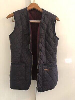 Barbour Navy Quilted Gilet Vest Womens US 4 UK 8 / Betty Fleece Liner