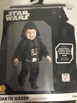 Child Star Wars Darth Vader Halloween Dress Up Costume Size Toddler 2T-3T New!](Darth Vader Costume Kids)