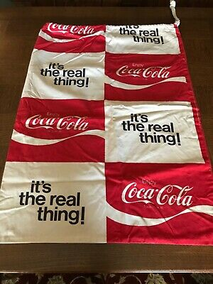 Vintage Coca-Cola Large Cloth Drawstring Bag