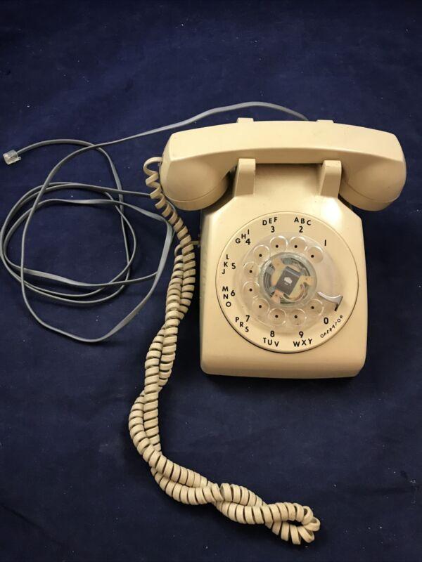 ITT Rotary Dial Phone beige cortelco