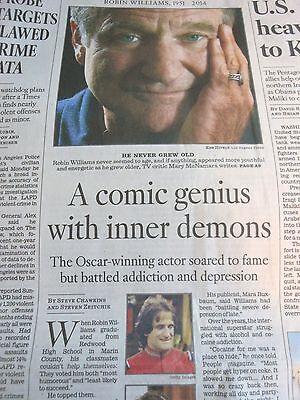 1951 2014 Robin Williams Appreciation   Obituary Comic Genius La Times