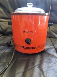 Retro Collectable Monier Crock Pot slow Cooker Orange Wunghnu Moira Area Preview