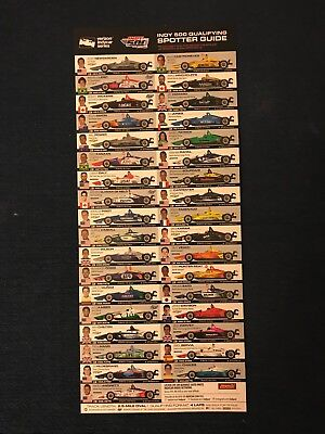 Indianapolis 500 2018 Spotter Guide Indy Car Series 102nd Running Danica Patrick