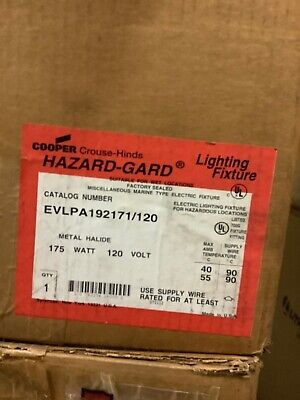Cooper Crouse-Hinds EVLS Hazard•Gard lighting fixture EVLS4070//MT 70W 120V