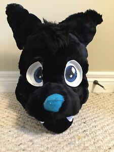 Wolf fursuit mask for sale