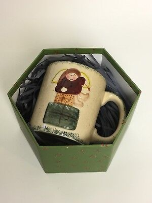 Ltd Commodities Christmas Angel Coffee Cup Mug W  Gift Box   2 Stuffed Ornaments