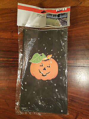 Paper Bag Halloween Luminaries (Vintage Paper Art Co. Halloween Pumpkin Bag Luminaries 6 ea. 11