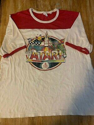 Atari Junk Food Vintage Style Shirt SIZE XXL RED WHITE
