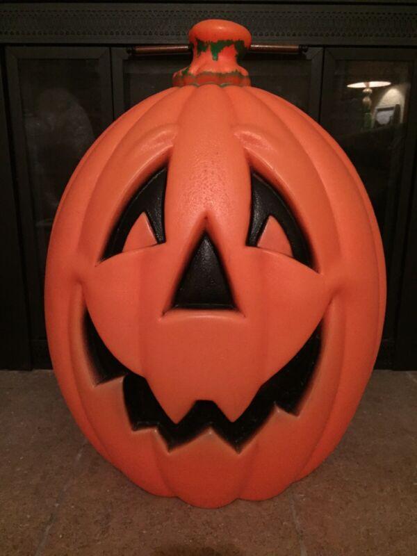 "Large 24"" Tall, Vintage Halloween Pumpkin Jack O Lantern, Blow Mold Yard Decor"