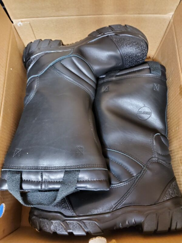 "GLOBE Crossfire 14"" Pull-on leather Firefighter Boots Size 10 M"